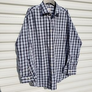 Peter Millar plaid 100% cotton button down shirt